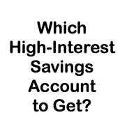 high interest savings